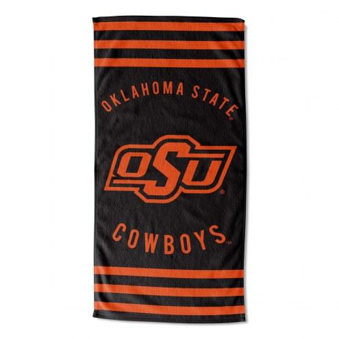 Oklahoma State Cowboys Stripes Beach Towel