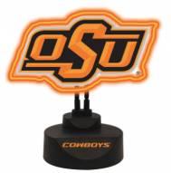Oklahoma State Cowboys Team Logo Neon Light