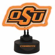 Oklahoma State Cowboys Team Logo Neon Light