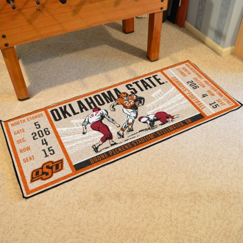 Oklahoma State Cowboys Ticket Runner Rug