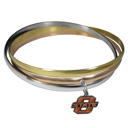 Oklahoma State Cowboys Tri-color Bangle Bracelet