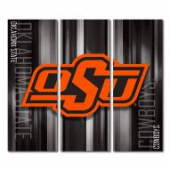 Oklahoma State Cowboys Triptych Rush Canvas Wall Art