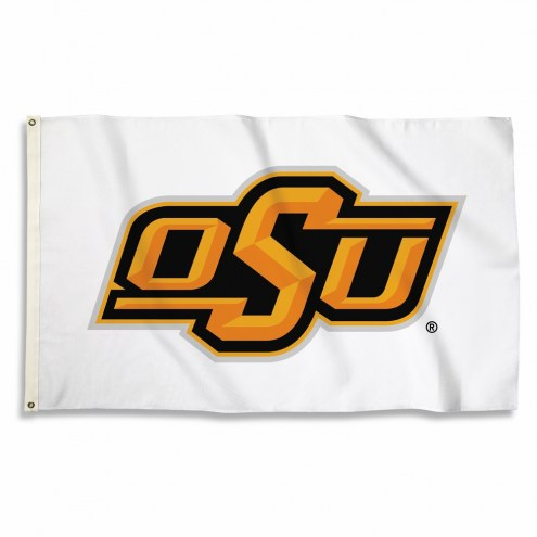 Oklahoma State Cowboys White 3' x 5' Flag