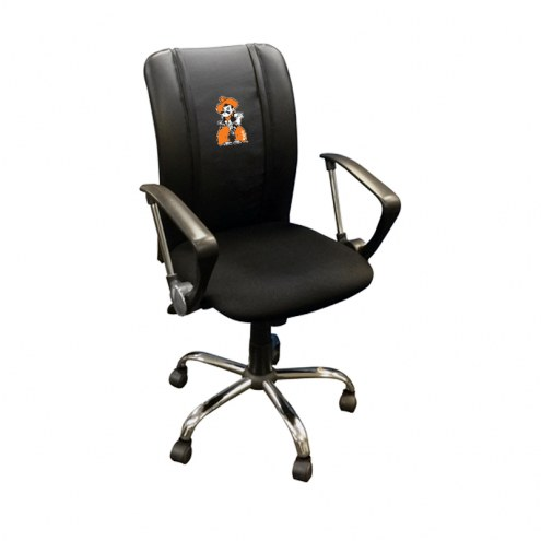Oklahoma State Cowboys XZipit Curve Desk Chair with Pistol Pete Logo