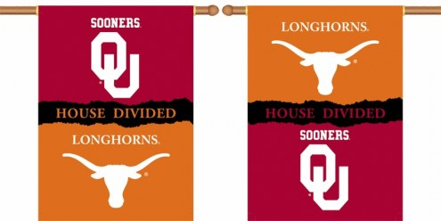 "Oklahoma / Texas Premium House Divided 28"" x 40"" Two-Sided Banner"