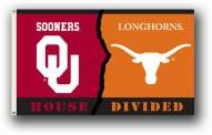 Oklahoma / Texas Premium Rivalry House Divided 3' x 5' Flag