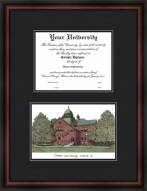 Oklahoma State University Diplomate Framed Lithograph with Diploma Opening