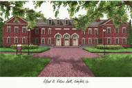 Old Dominion Monarchs Campus Images Lithograph
