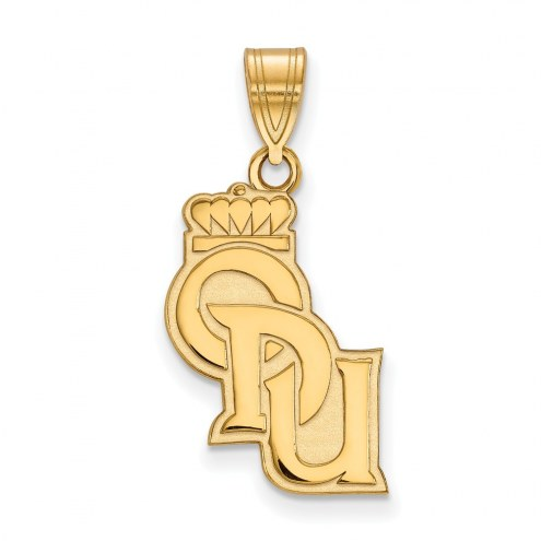Old Dominion Monarchs College Sterling Silver Gold Plated Large Pendant