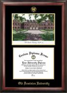 Old Dominion Monarchs Gold Embossed Diploma Frame with Lithograph