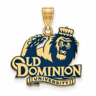 Old Dominion Monarchs Sterling Silver Gold Plated Large Enameled Pendant