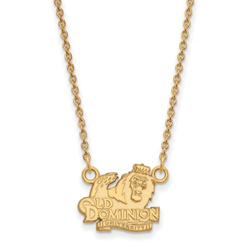 Old Dominion Monarchs Sterling Silver Gold Plated Small Pendant Necklace