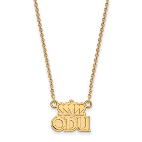 Old Dominion Monarchs Sterling Silver Gold Plated Small Pendant with Necklace