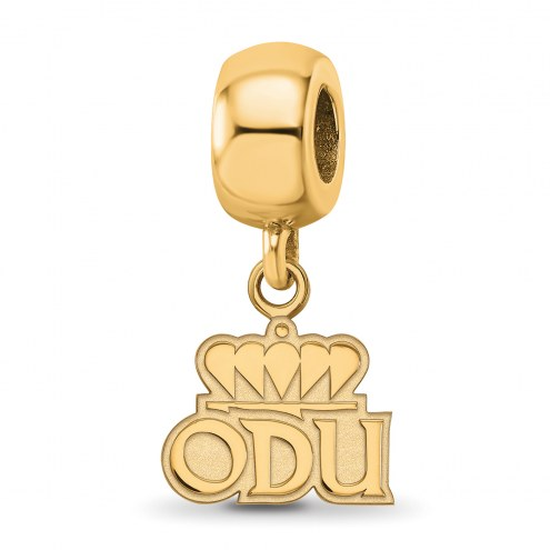 Old Dominion Monarchs Sterling Silver Gold Plated Extra Small Dangle Bead