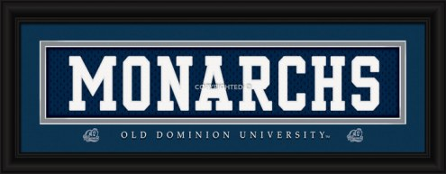 "Old Dominion Monarchs ""Monarchs"" Stitched Jersey Framed Print"