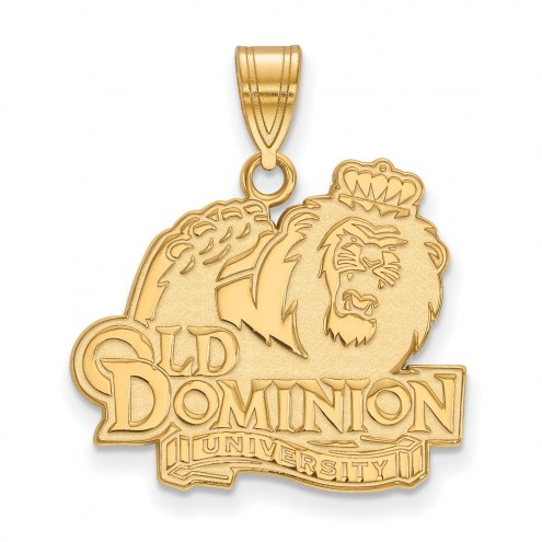 Old Dominion Monarchs NCAA Sterling Silver Gold Plated Large Pendant