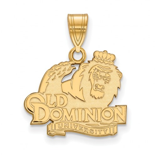 Old Dominion Monarchs NCAA Sterling Silver Gold Plated Medium Pendant