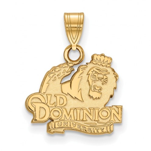 Old Dominion Monarchs NCAA Sterling Silver Gold Plated Small Pendant