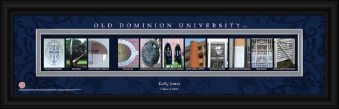 Old Dominion Monarchs Personalized Campus Letter Art