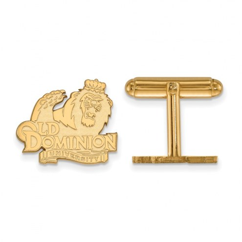 Old Dominion Monarchs Sterling Silver Gold Plated Cuff Links