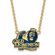 Old Dominion Monarchs Sterling Silver Gold Plated Large Pendant Necklace