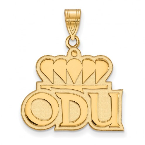 Old Dominion Monarchs Sterling Silver Gold Plated Large Pendant