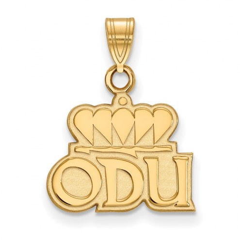 Old Dominion Monarchs Sterling Silver Gold Plated Small Pendant