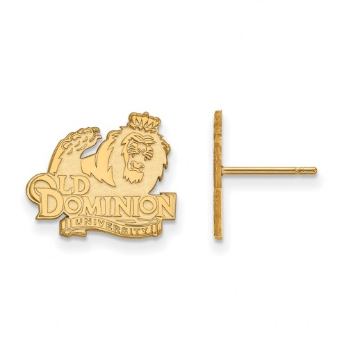 Old Dominion Monarchs Sterling Silver Gold Plated Small Post Earrings