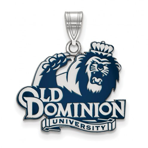 Old Dominion Monarchs Sterling Silver Large Enameled Pendant