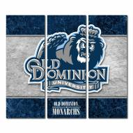 Old Dominion Monarchs Triptych Double Border Canvas Wall Art