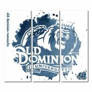 Old Dominion Monarchs Triptych Watercolor Canvas Wall Art