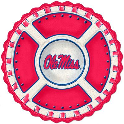 Ole Miss Mississippi Rebels Homegating Ceramic Veggie Tray