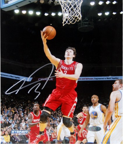 Omer Asik Houston Rockets Shoots Against Golden State Warriors Signed 8 x 10 Photo