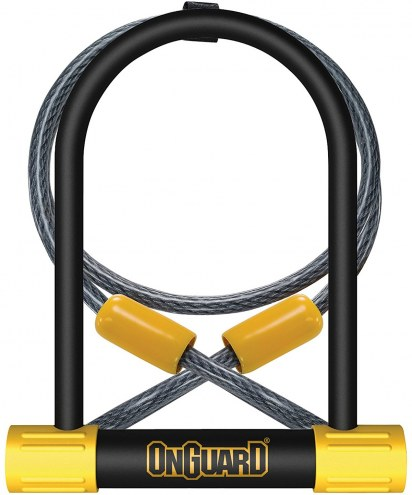 OnGuard Pitbull DT with 4' Cinch Loop Cable Bike Lock