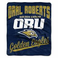 Oral Roberts Golden Eagles Alumni Raschel Throw Blanket