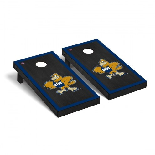 Oral Roberts Golden Eagles Onyx Stained Border Cornhole Game Set