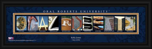 Oral Roberts Golden Eagles Personalized Campus Letter Art