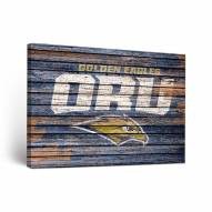 Oral Roberts Golden Eagles Weathered Canvas Wall Art