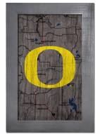 "Oregon Ducks 11"" x 19"" City Map Framed Sign"