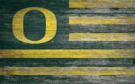 "Oregon Ducks 11"" x 19"" Distressed Flag Sign"