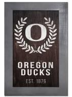 "Oregon Ducks 11"" x 19"" Laurel Wreath Framed Sign"
