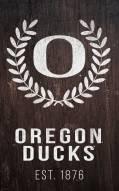 "Oregon Ducks 11"" x 19"" Laurel Wreath Sign"