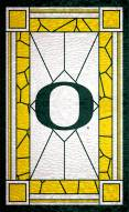 """Oregon Ducks 11"""" x 19"""" Stained Glass Sign"""