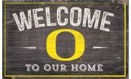 """Oregon Ducks 11"""" x 19"""" Welcome to Our Home Sign"""
