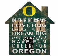 "Oregon Ducks 12"" House Sign"