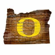 "Oregon Ducks 12"" Roadmap State Sign"