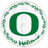 "Oregon Ducks 12"" Welcome Circle Sign"