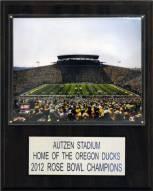 """Oregon Ducks 12"""" x 15"""" Autzen Stadium Plaque"""