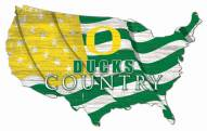 "Oregon Ducks 15"" USA Flag Cutout Sign"