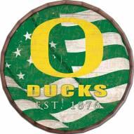 """Oregon Ducks 16"""" Flag Barrel Top"""